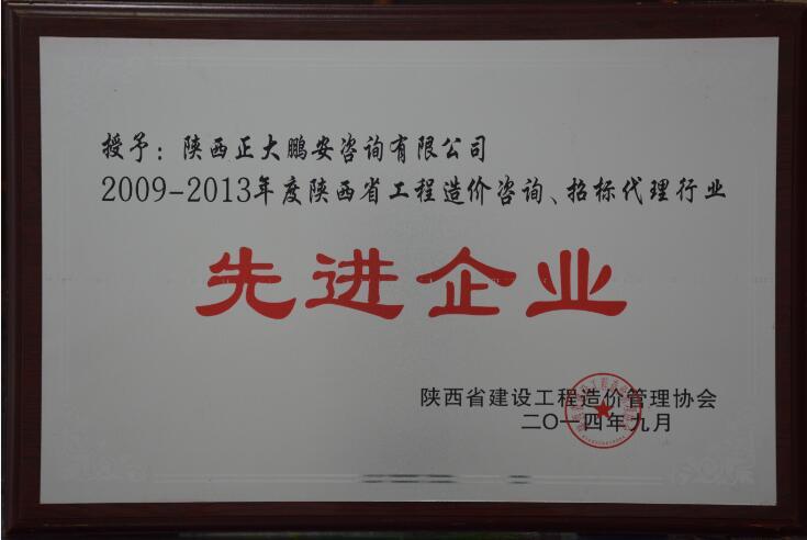 陕西省工程造价咨询 招标代理行业先进企业