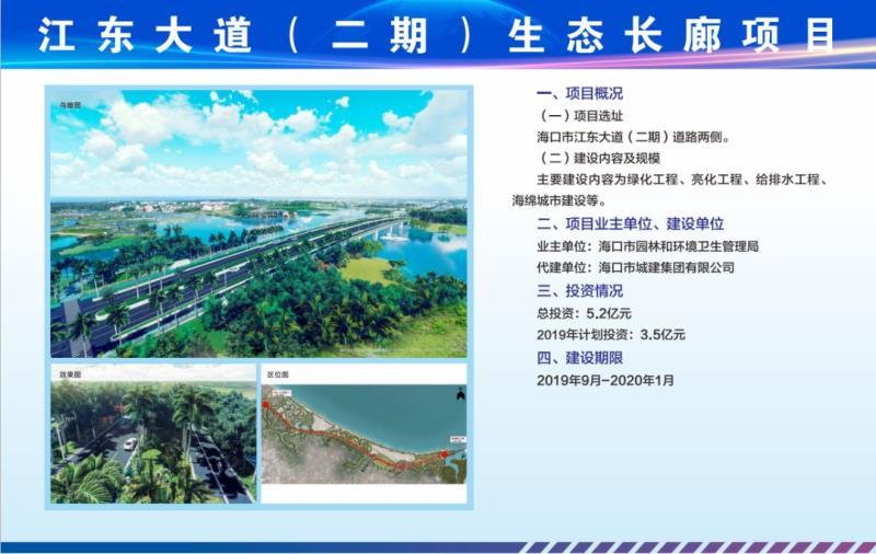 江东大道(二期)生态长廊建设工程施工