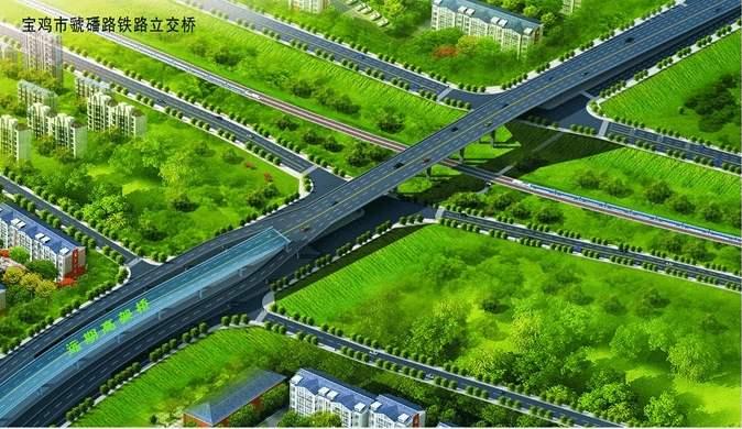 宝鸡市虢磻渭河大桥工程