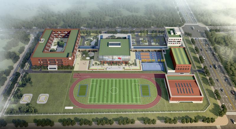 杨陵区第三小学建设项目部室楼、挡土墙、综合楼、教学楼工程